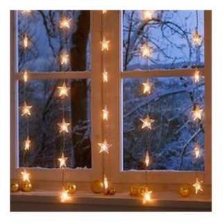 IKEA star curtain lights
