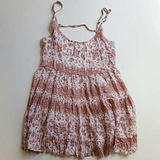 Brandy Melville Pink Rose Jada Dress