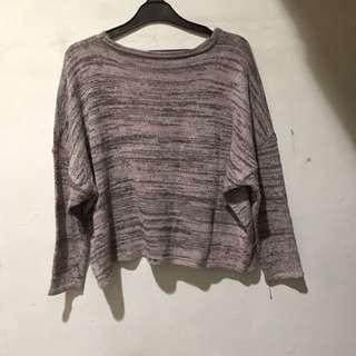 sweater rajut pink batwing
