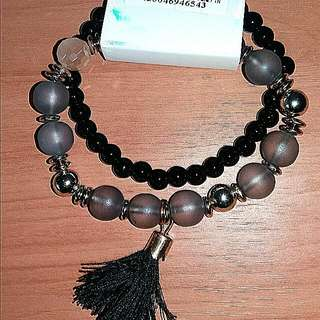 Black & Grey Beaded Bracelets