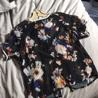 Zara Sheer Graphic Print Tshirt