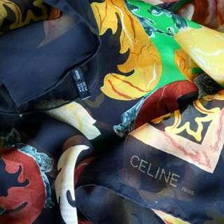 Authentic Celine Jumbo Silk Scarf
