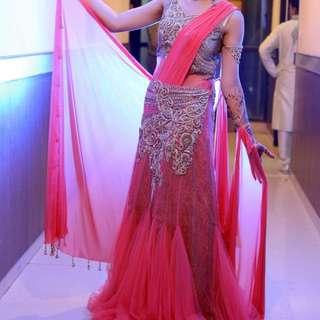Heavy Swaroski Engrossed Bridal/ball Gown