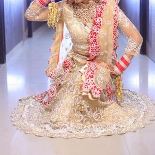 Bridal Lehnga. Engrossed With Heavy Work.