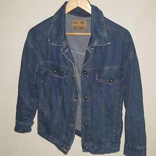 Blue Denim Oversized Jacket