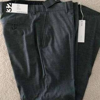 BNWT Men's Club Monaco Grey Dress Pants - Size 32