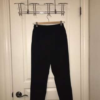 Zara Black Drawstring Trousers With Pockets