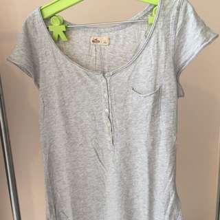 Hollister Grey Top Size L