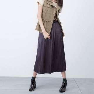 iRoo 金屬光細折長裙