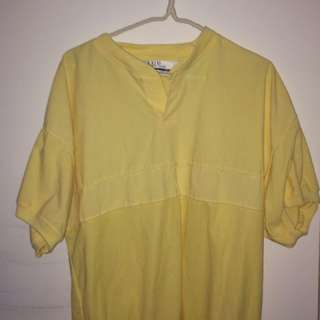 Vintage Oversized Yellow Shirt