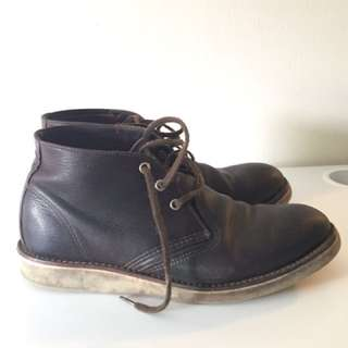 Redwing Leather Boots Size 10 / Excellent Condition