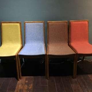 北歐椅子 馬卡龍色 餐桌椅