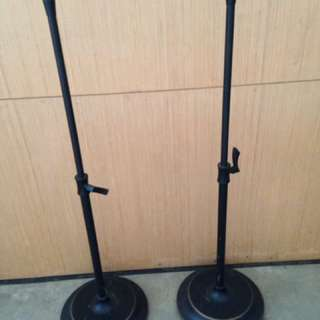 2 Metal Adjustable Speaker Stands
