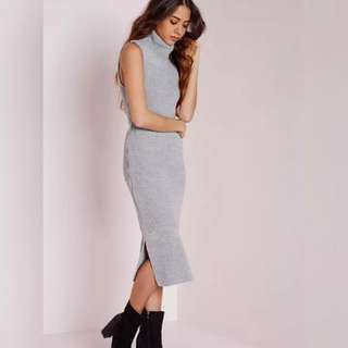 Light Grey ❤ Sleeveles Knit Dress