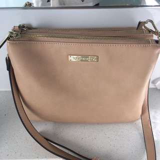 TONY BIANCO NUDE ACROSS BODY HANDBAG
