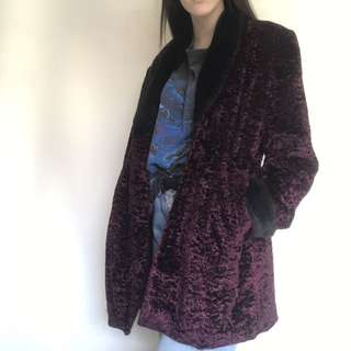 vintage purple fur coat