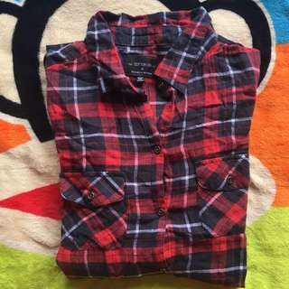 Cotton On Long Sleeve Red Checkered