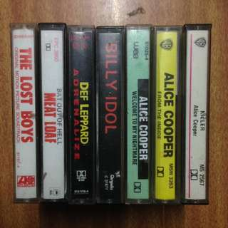 7x Heavy Metal Cassette Tapes - Albums & Soundtracks