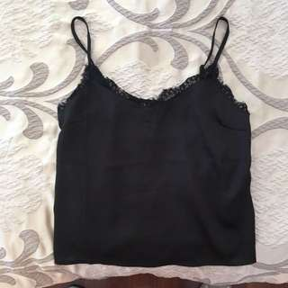 Supre Black Silk Lace Top