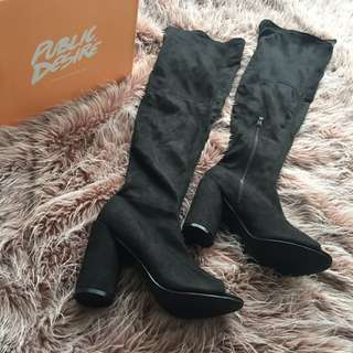 Over The Knee Peep Toe Boots