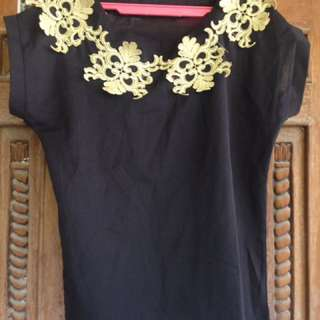 Chifon Black Top