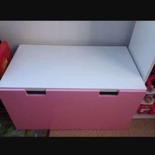 IKEA Stuva Storage Bench Pink