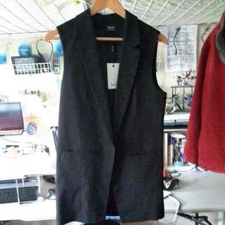 Bardot Long Suit Vest Black Sz10