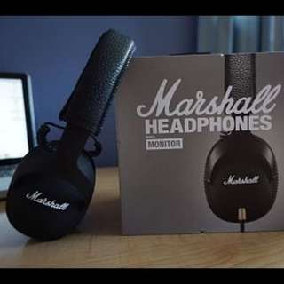 MARSHALL MONITOR V2 HEADPHONES WITH MIC <NEW AND SEALED>