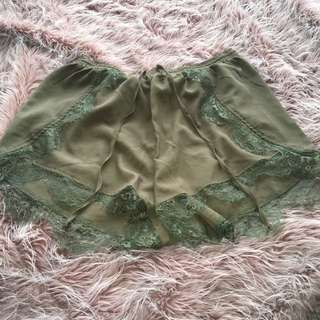 Faux Chiffon Shorts