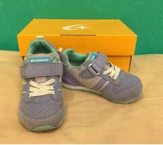 [出清]Moonstar日本Carrot淺藍色 淺紫 透氣運動頂級機能鞋 (15CM)