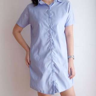Sleeved Button Down Dress