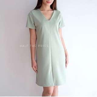 Mint V Neck Dress
