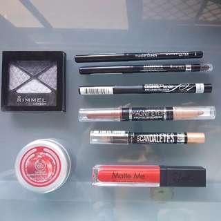 REDUCED! Drug Store Makeup + Body shop Bulk Lot For Cheap! Eyeliner Lipstick Lip gloss Eyeshadow. Make An Offer
