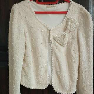 Ribbon Pearl Cardigan