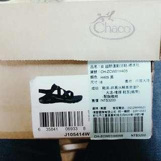 Chaco越野運動涼鞋 UK8女版黑色 舒服耐走又潮