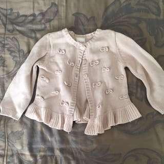 Seed Baby Cardigan Khaki Baju Anak Size 6-9 Months