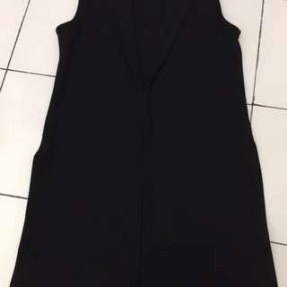 Long Vest Black/Baju / Kemeja / Celana / Sepatu