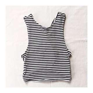 Pull & Bear Stripes Crop Top