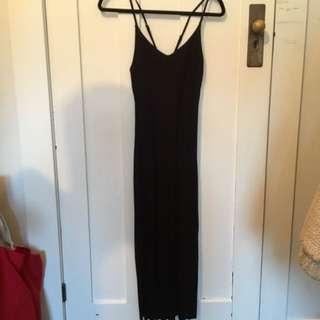 Asos Black Dress with Slits Up Sides