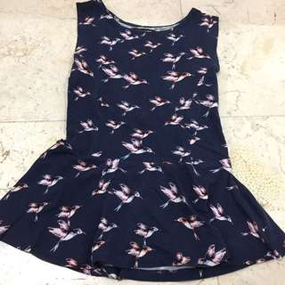 New Look Bird Peplum Top