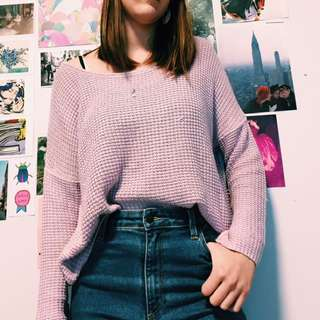 Lilac Slouchy Knit