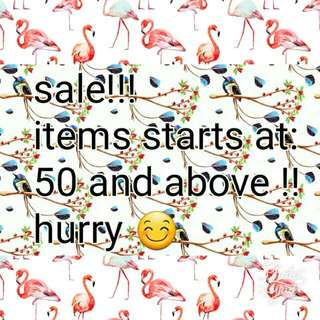 Sale Sale Sale Items Starts At 50 And Above !!