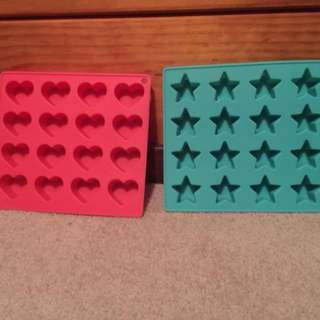 Silicone Heart And Star Moulds