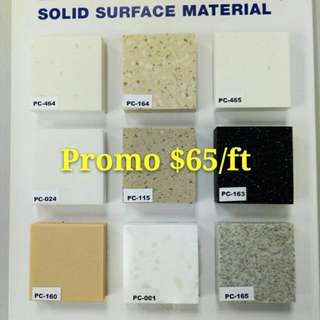 Great Promo For Solid Surface@$65/ft