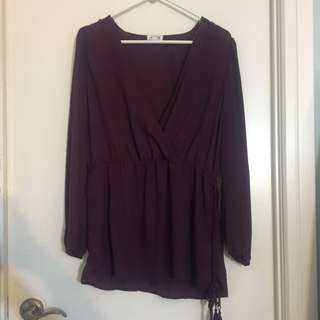 Purple/Maroon Top Froam Ardene