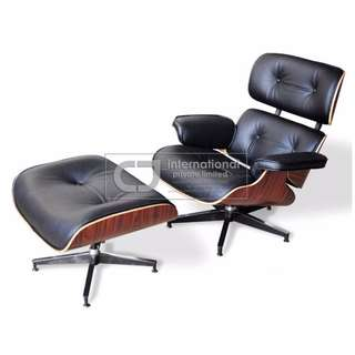 Lounge Chair & Ottoman in Full Leather, Brand New!