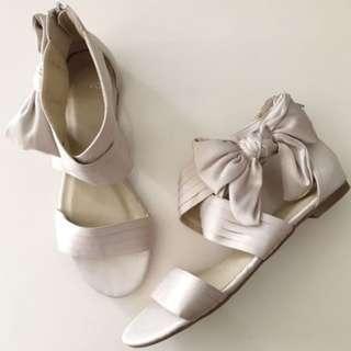NOVO Bow Detail Crossover Dress Sandals Size 38