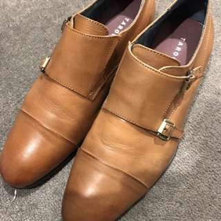 Tarocash Brown Double Monk Dress Shoes UK 8