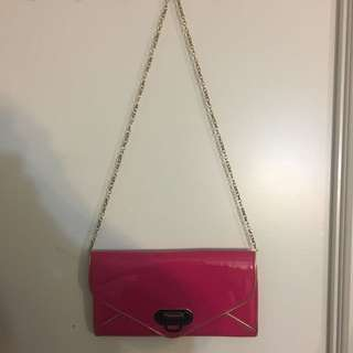 Pink And Gold Side Purse/Clutch