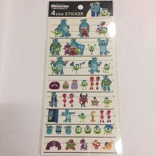 日本正版怪獸公司貼紙